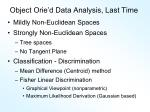 object orie d data analysis last time