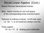 recall linear algebra cont20