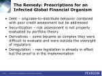 the remedy prescriptions for an infected global financial organism