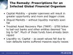 the remedy prescriptions for an infected global financial organism36
