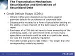 the transmission mechanism securitization and derivatives of securitized debt19