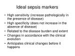 ideal sepsis markers