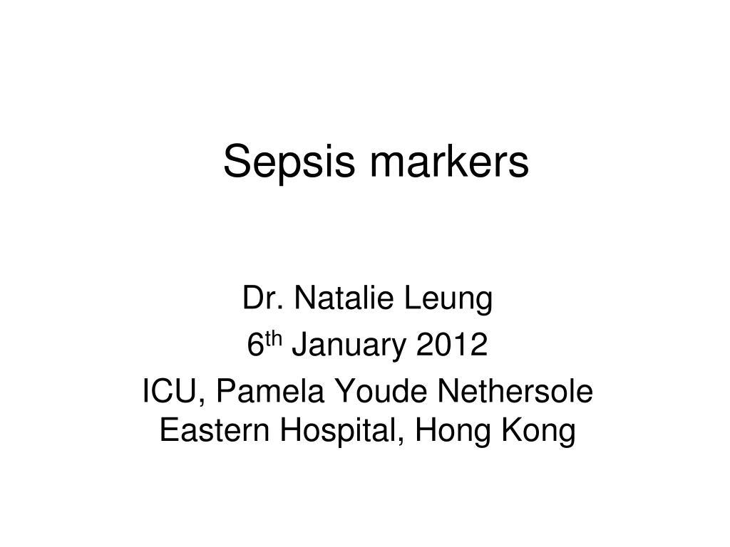 sepsis markers l.