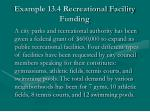 example 13 4 recreational facility funding