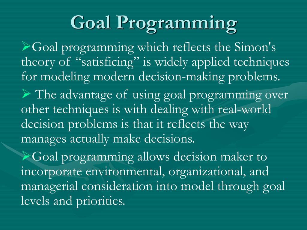 goal programming l.