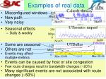 examples of real data