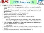 iepm lessons 1