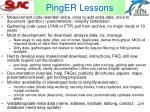 pinger lessons