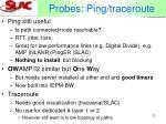 probes ping traceroute