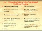 cont comparison between micro teaching and traditional teaching