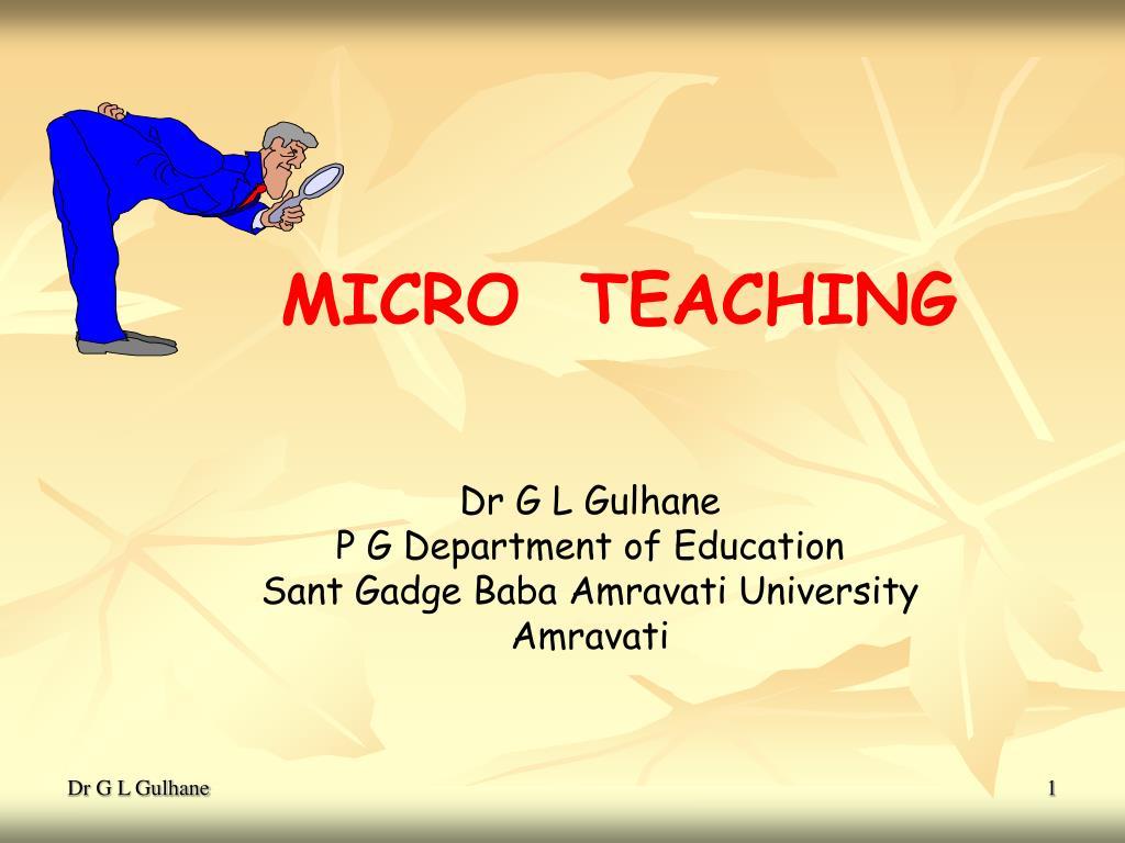 micro teaching l.