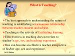 what is teaching3