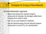 c 2 strategies for energy raw materials25