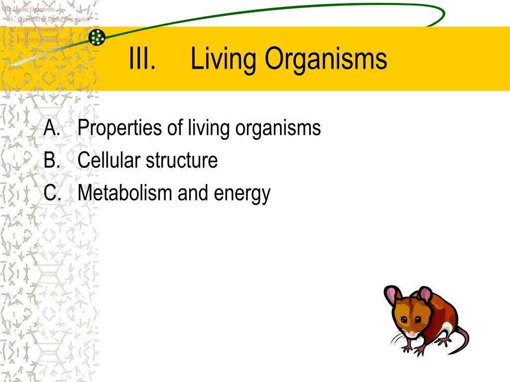 living organisms l.