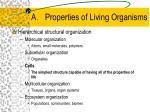 properties of living organisms