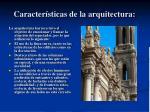 caracter sticas de la arquitectura
