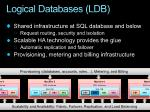 logical databases ldb