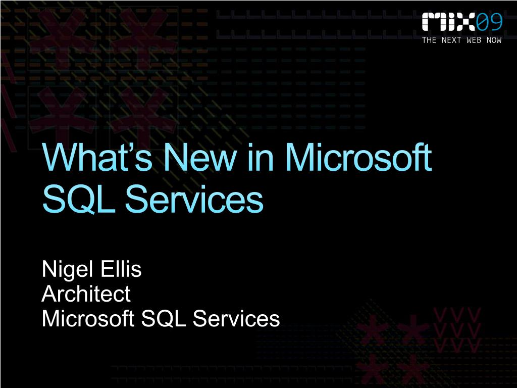 what s new in microsoft sql services l.
