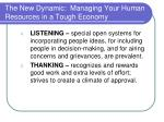 the new dynamic managing your human resources in a tough economy14