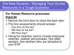 the new dynamic managing your human resources in a tough economy17
