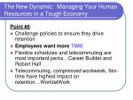 the new dynamic managing your human resources in a tough economy21