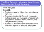 the new dynamic managing your human resources in a tough economy8