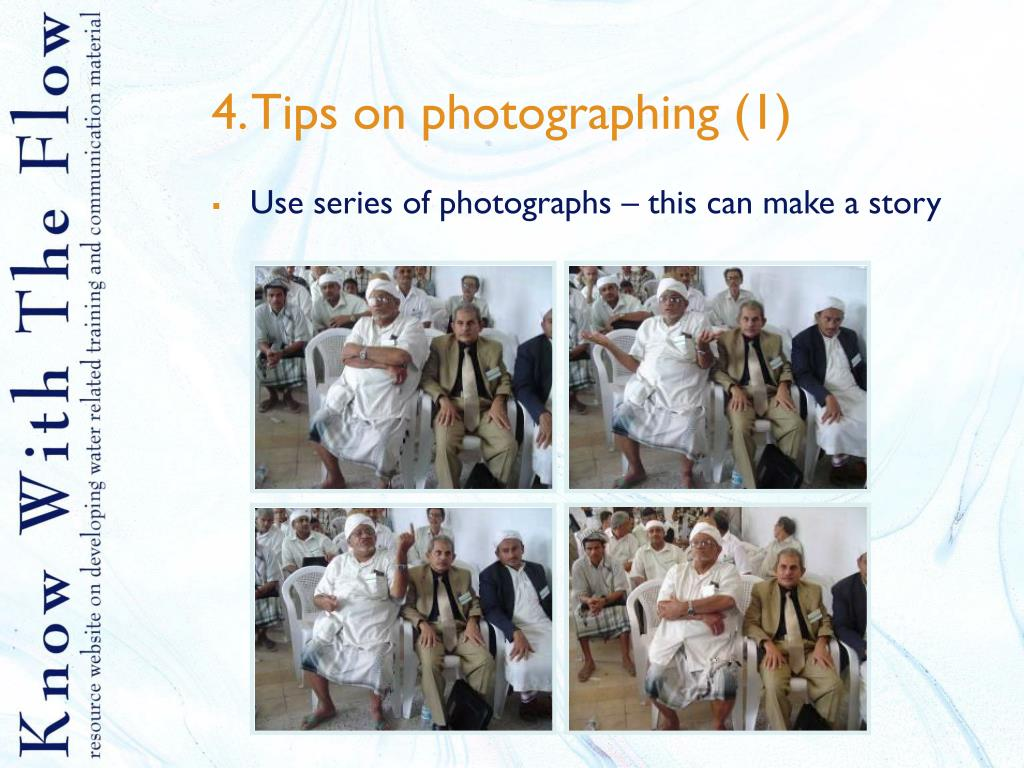 4. Tips on photographing (1)