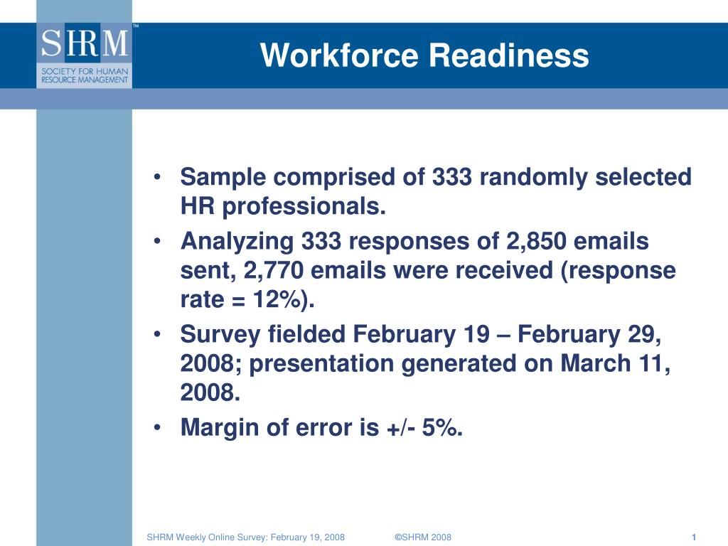 workforce readiness l.
