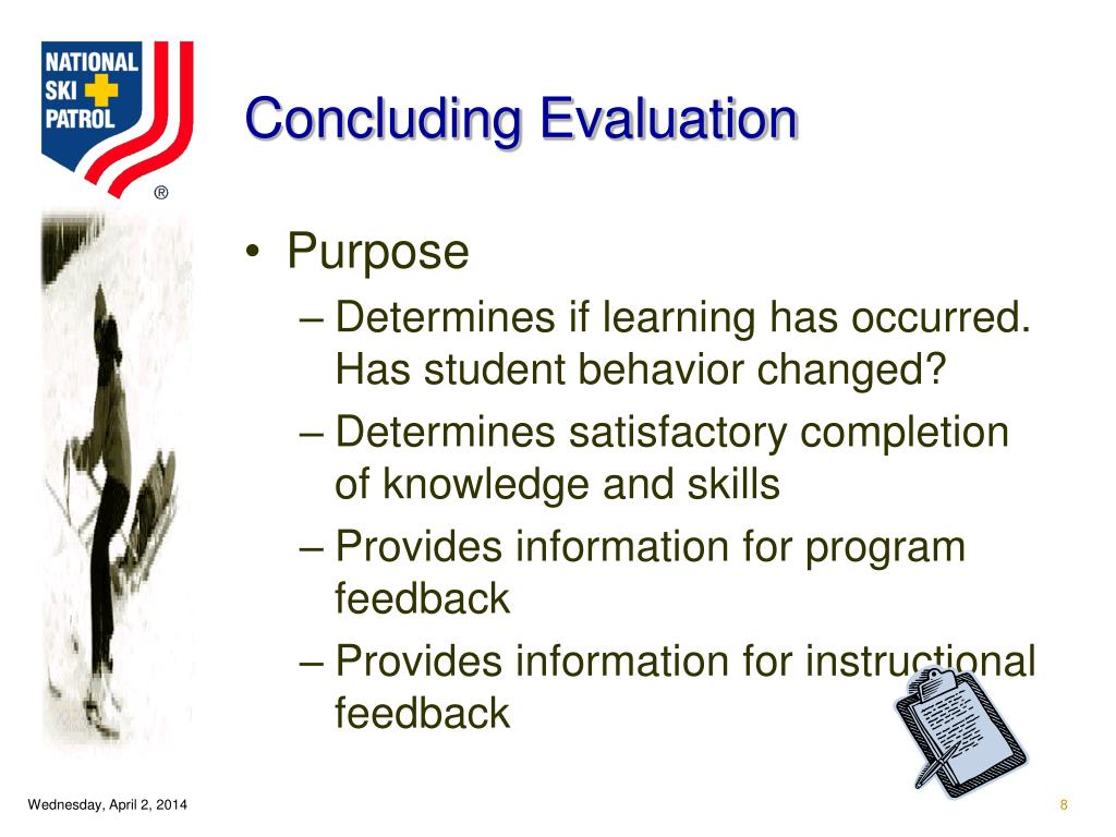 Concluding Evaluation