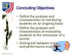 concluding objectives