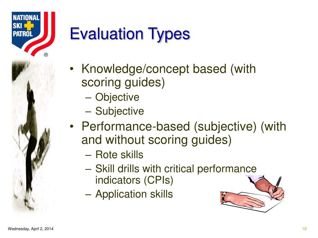 Evaluation Types