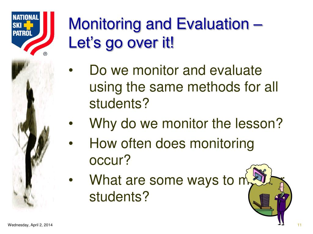 Monitoring and Evaluation – Let's go over it!