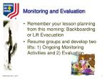 monitoring and evaluation14