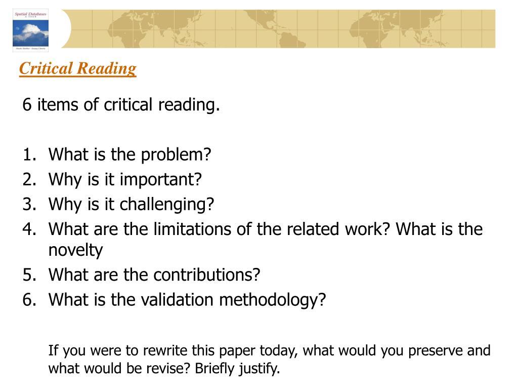 critical reading l.