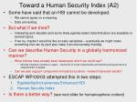 toward a human security index a2