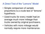 a direct test of the lemons model5