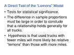 a direct test of the lemons model8