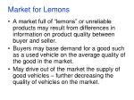 market for lemons