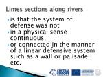 limes sections along rivers