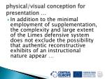 physical visual conception for presentation28
