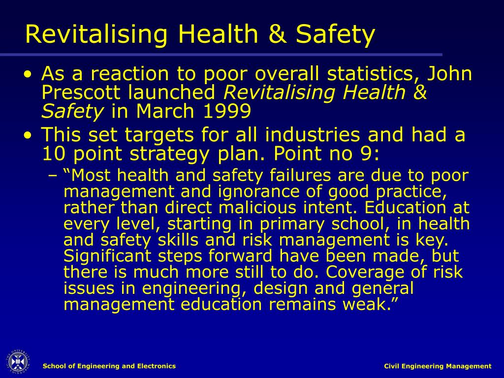 Revitalising Health & Safety