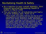 revitalising health safety