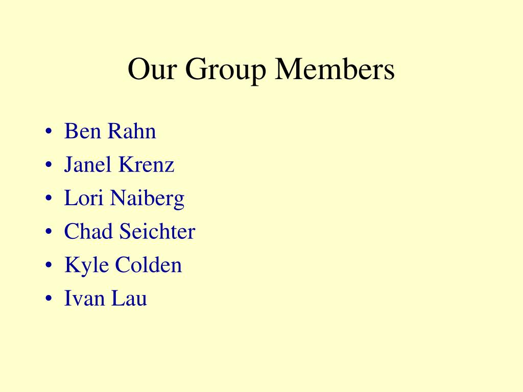 our group members l.