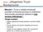 cont jitegemee trust background