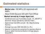estimated statistics