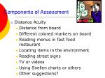 components of assessment51