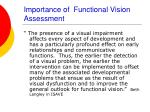 importance of functional vision assessment