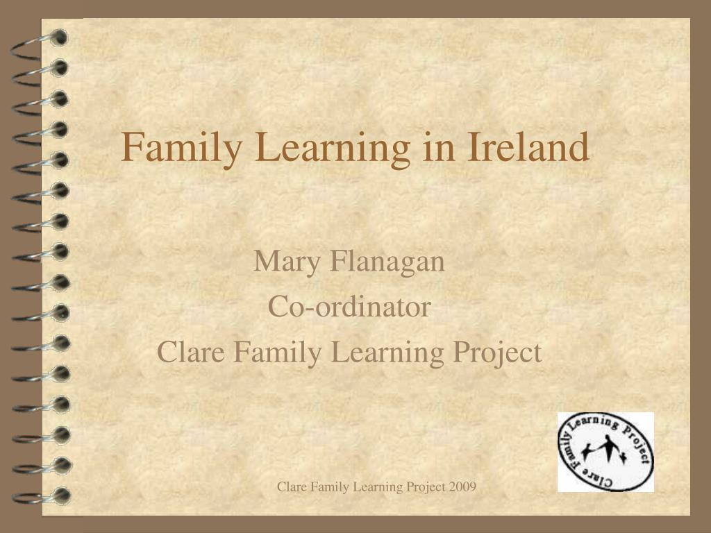 family learning in ireland l.