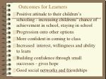 outcomes for learners