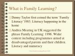 what is family learning